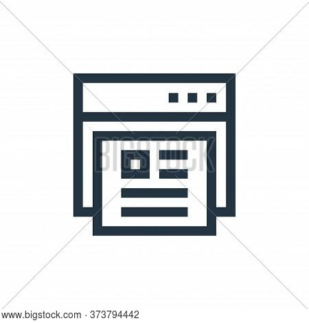 online profile icon isolated on white background from job resume collection. online profile icon tre