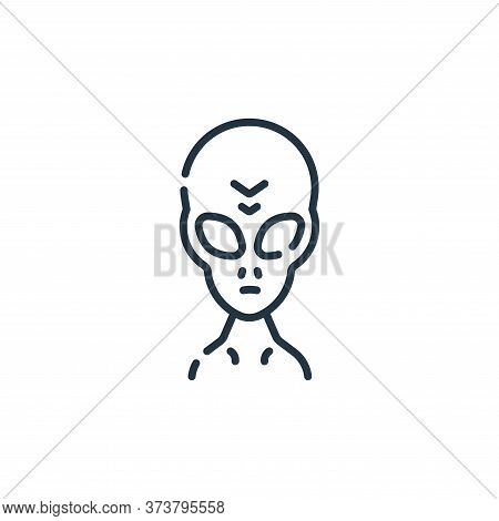 alien icon isolated on white background from fantastic characters collection. alien icon trendy and