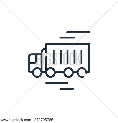 delivery truck icon isolated on white background from industrial process collection. delivery truck
