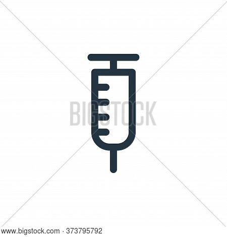 syringe icon isolated on white background from emergencies collection. syringe icon trendy and moder