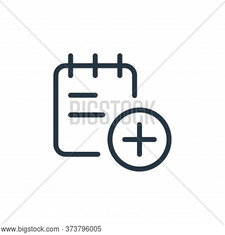 add icon isolated on white background from work office supply collection. add icon trendy and modern