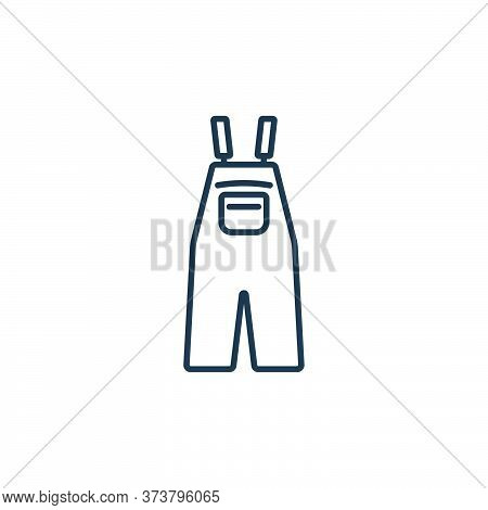overall icon isolated on white background from clothes and outfit collection. overall icon trendy an