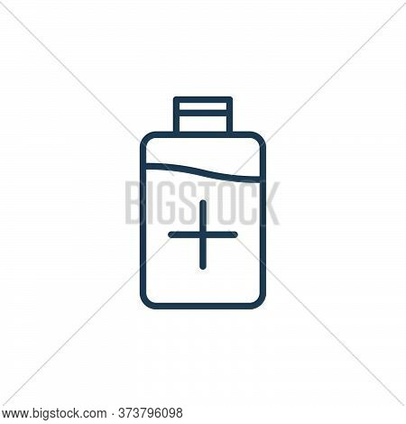 bottle icon isolated on white background from stop virus collection. bottle icon trendy and modern b