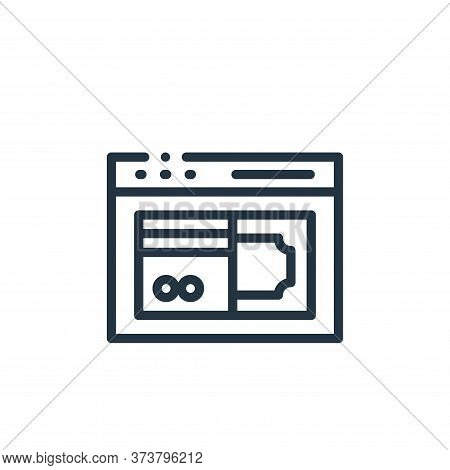 online payment icon isolated on white background from online shopping collection. online payment ico