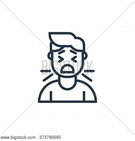 cough icon isolated on white background from pandemic collection. cough icon trendy and modern cough