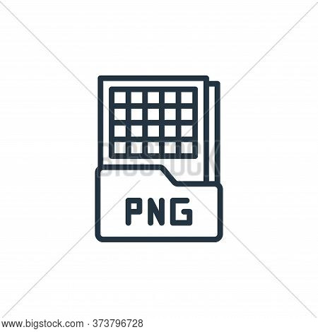 png file icon isolated on white background from graphic design collection. png file icon trendy and