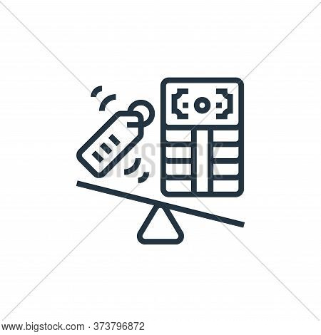 pressure icon isolated on white background from business risks collection. pressure icon trendy and