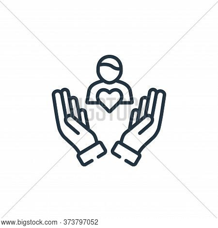 care icon isolated on white background from kindness collection. care icon trendy and modern care sy