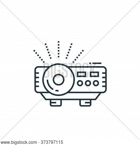 projector icon isolated on white background from technology devices collection. projector icon trend