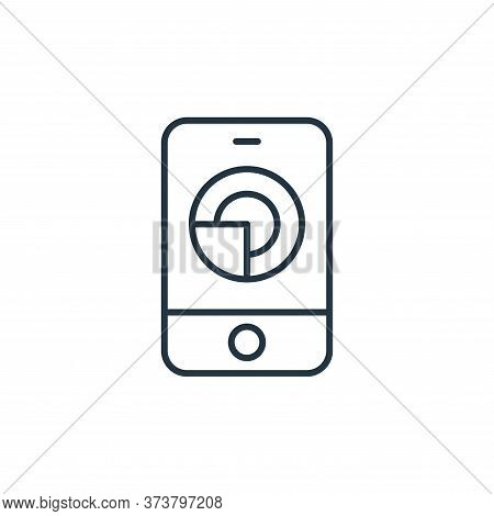 mobile analytics icon isolated on white background from ecommerce collection. mobile analytics icon