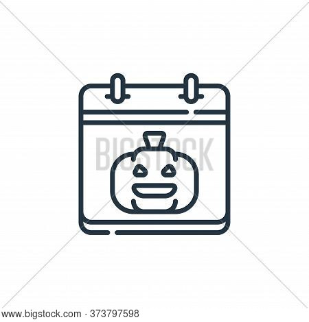 halloween icon isolated on white background from calendar and date collection. halloween icon trendy