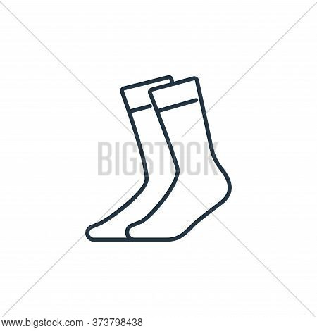 socks icon isolated on white background from clothes and outfit collection. socks icon trendy and mo
