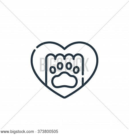 paw icon isolated on white background from animal welfare collection. paw icon trendy and modern paw
