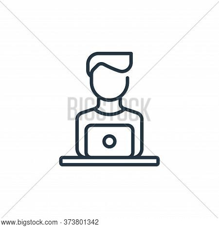 man icon isolated on white background from life skills collection. man icon trendy and modern man sy