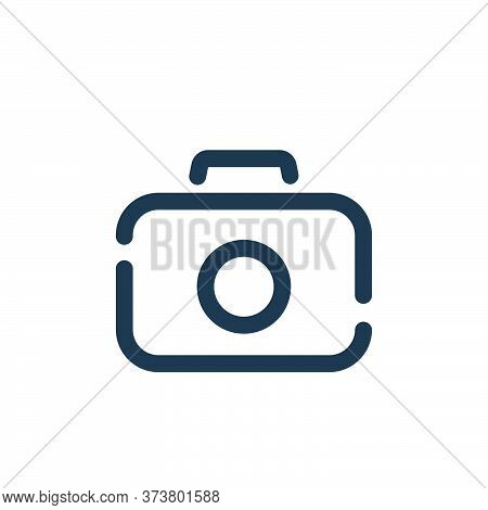 camera icon isolated on white background from travel collection. camera icon trendy and modern camer