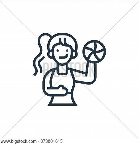 sportswoman icon isolated on white background from fitness collection. sportswoman icon trendy and m