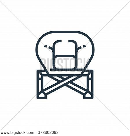folding icon isolated on white background from camping collection. folding icon trendy and modern fo