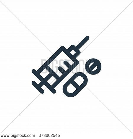 drugs icon isolated on white background from medicine collection. drugs icon trendy and modern drugs