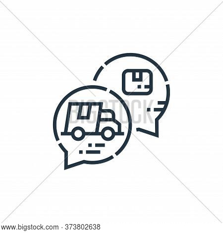 chat bubble icon isolated on white background from delivery collection. chat bubble icon trendy and