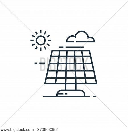 solar panel icon isolated on white background from environment and eco collection. solar panel icon