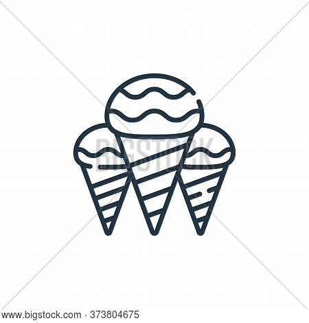 ice cream icon isolated on white background from hippies collection. ice cream icon trendy and moder