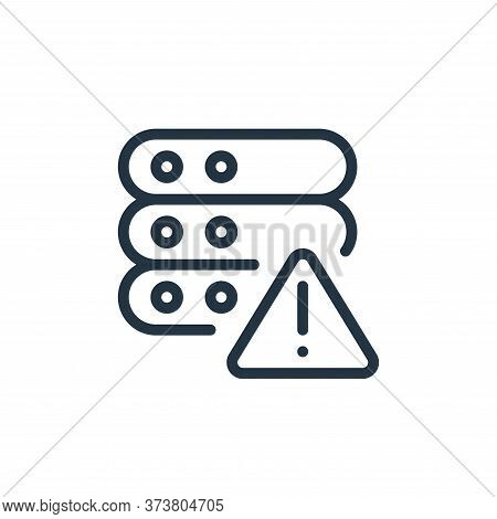 error icon isolated on white background from work office server collection. error icon trendy and mo