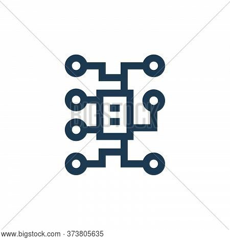electrical circuit icon isolated on white background from electrician tools and elements collection.