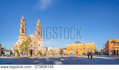 Aguascalientes, Aguascalientes, Mexico - November 23, 2019: Catedral Basilica De Nuestra Señora De L