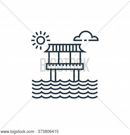 bungalow icon isolated on white background from tourism collection. bungalow icon trendy and modern