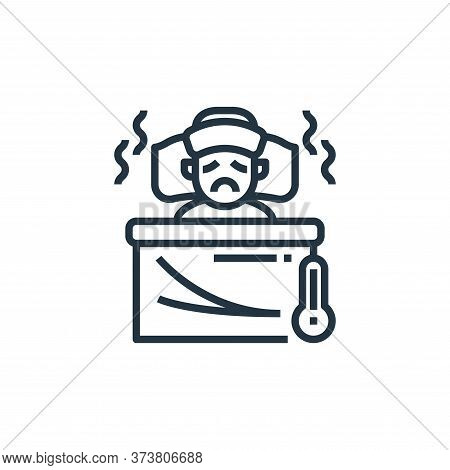 sick boy icon isolated on white background from coronavirus collection. sick boy icon trendy and mod