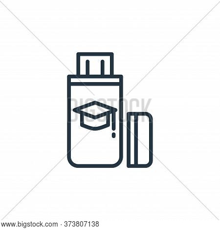 flash drive icon isolated on white background from elearning collection. flash drive icon trendy and