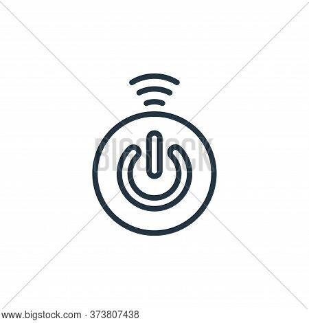 button icon isolated on white background from internet of things collection. button icon trendy and