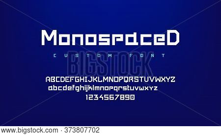 Logo Font. Futuristic Geometric Alphabet With Uppercase And Lowercase Symbols For Logo, Game Ui Inte