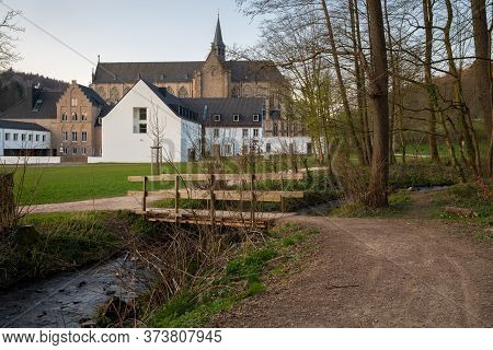 Panoramic Image Of The Altenberg Cathedral In Evening Light, Germany