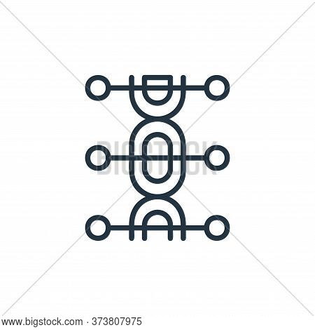 genetics icon isolated on white background from covid collection. genetics icon trendy and modern ge
