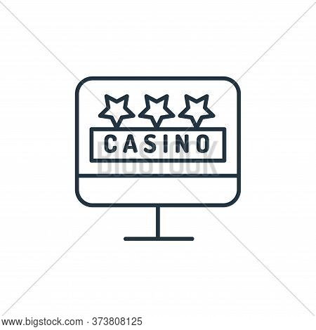 monitor icon isolated on white background from casino collection. monitor icon trendy and modern mon