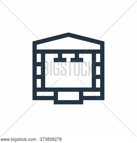 stage icon isolated on white background from rock and roll collection. stage icon trendy and modern