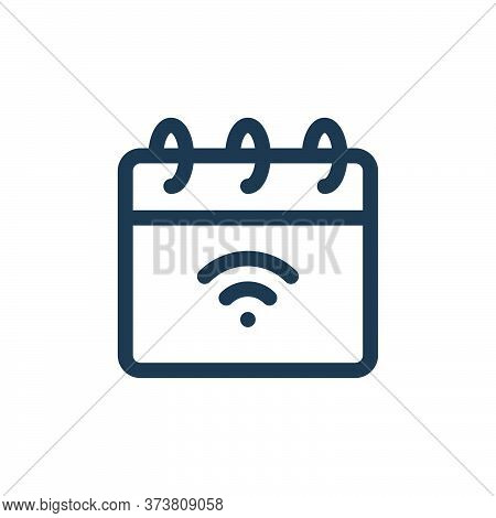calendar icon isolated on white background from internet of things collection. calendar icon trendy