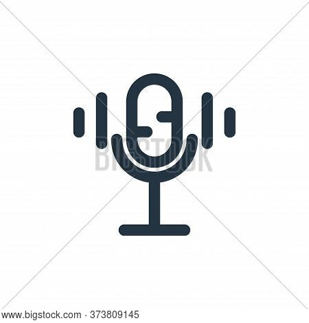 microphone icon isolated on white background from multimedia collection. microphone icon trendy and