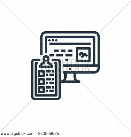 checklist icon isolated on white background from user experience collection. checklist icon trendy a