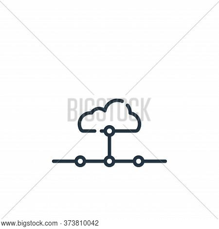 network icon isolated on white background from telecommuting collection. network icon trendy and mod