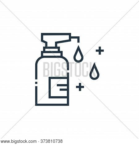 antiseptic icon isolated on white background from medical services collection. antiseptic icon trend