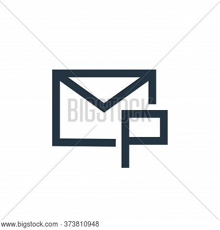 email icon isolated on white background from email collection. email icon trendy and modern email sy