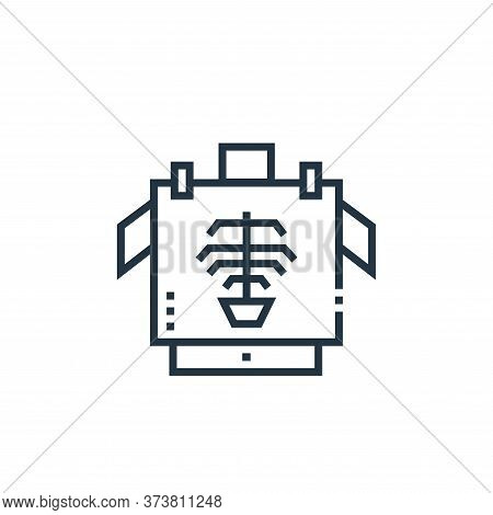 x rays icon isolated on white background from medical services collection. x rays icon trendy and mo