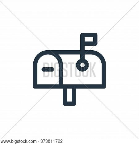 letter box icon isolated on white background from communication and media collection. letter box ico