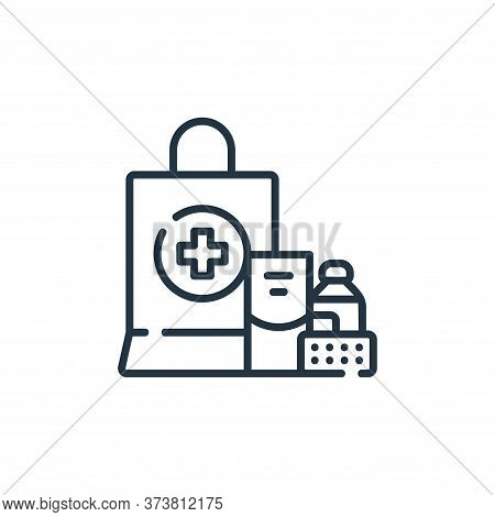 medicine icon isolated on white background from delivery collection. medicine icon trendy and modern