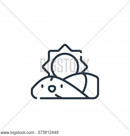 sunrise icon isolated on white background from ramadan collection. sunrise icon trendy and modern su