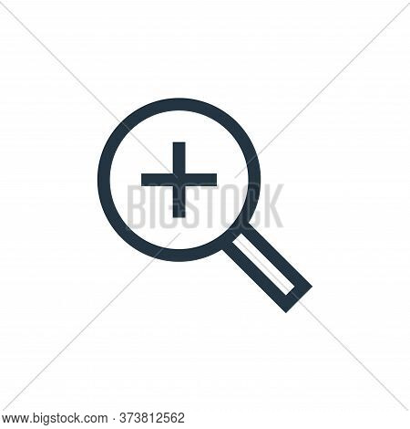 zoom in icon isolated on white background from web essentials collection. zoom in icon trendy and mo