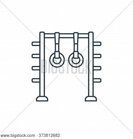 gymnastic rings icon isolated on white background from fitness collection. gymnastic rings icon tren