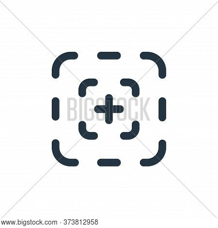 focus icon isolated on white background from video collection. focus icon trendy and modern focus sy